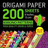 Origami Paper 200 Sheets Kimono Patterns 6 (15 CM): Tuttle Origami Paper: High-Quality Double-Sided Origami Sheets Printed with 12 Patterns (Instructi