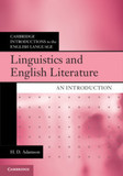 Linguistics and English Literature: An Introduction